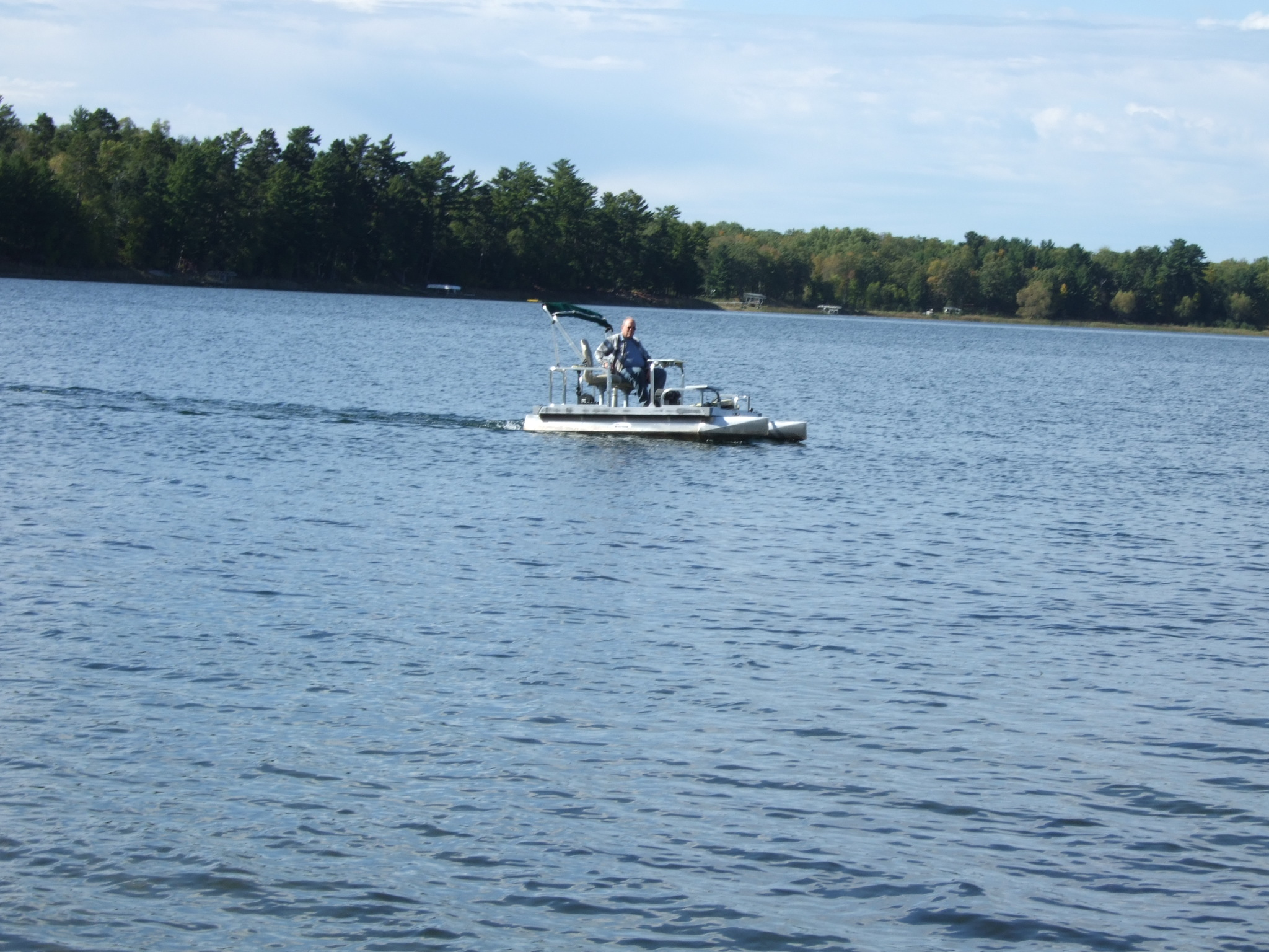 2 Person Electric Pontoon